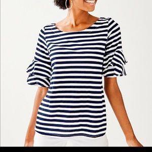 ❤️ Lilly Pulitzer Navy & White Stripe Top, Size S